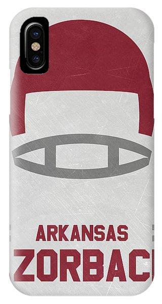 Arkansas Razorbacks Vintage Football Art IPhone Case