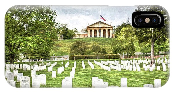 Department Of The Army iPhone Case - Arlington House Half Mast  by Michael Rankin