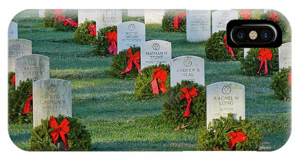 Department Of The Army iPhone Case - Arlington National Cemetery At Christmas by Craig Fildes