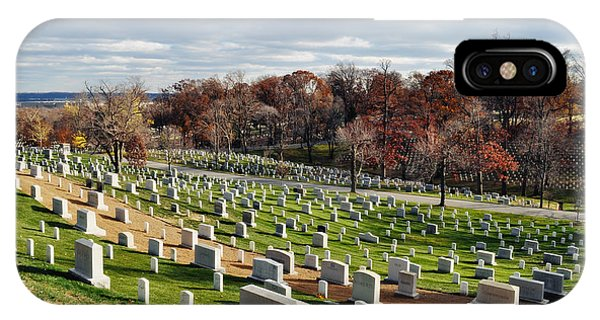 Department Of The Army iPhone Case - Arlington National Cemetery Hillside by Kyle Hanson