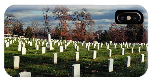Department Of The Army iPhone Case - Arlington National Cemetery Landscape II by Kyle Hanson