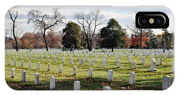 Department Of The Army iPhone Case - Arlington National Cemetery Landscape by Kyle Hanson