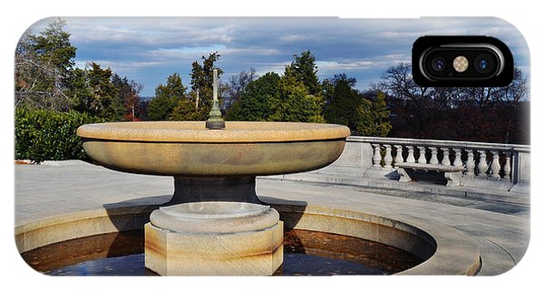 Department Of The Army iPhone Case - Arlington National Cemetery Memorial Fountain by Kyle Hanson
