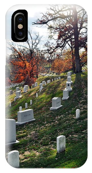 Department Of The Army iPhone Case - Arlington National Cemetery Portrait by Kyle Hanson