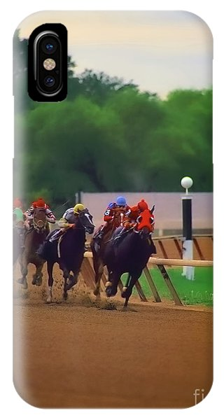 Arlington Park Out Of The Turn Into The Stretch IPhone Case