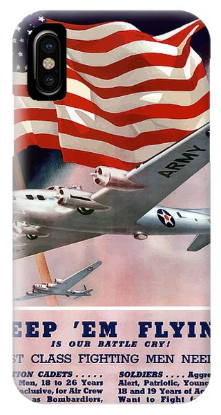 American Flag iPhone Case - Army Air Corps Recruiting Poster by War Is Hell Store