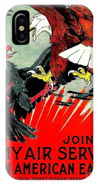 Army Air Service Recruitment Poster 1918 IPhone Case