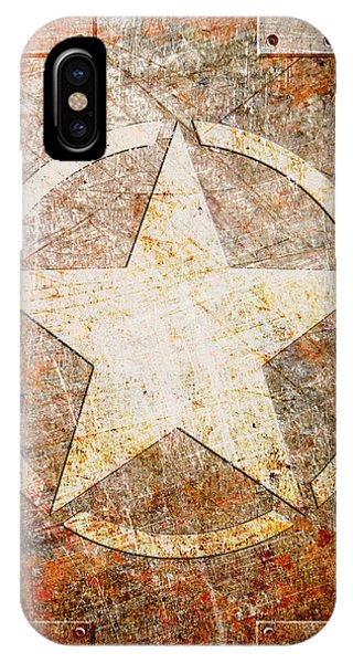 Army Star On Rust IPhone Case