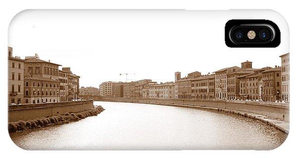 Arno River In Pisa IPhone Case