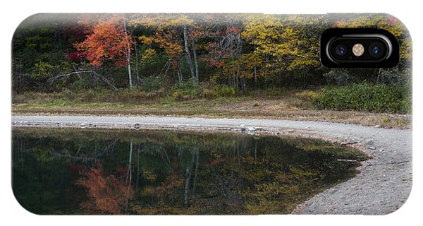 Around The Bend- Hiking Walden Pond In Autumn IPhone Case