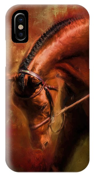Around The First Turn Equestrian Art IPhone Case