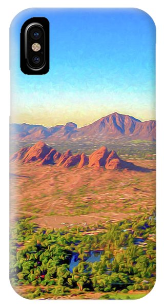 Arriving In Phoenix Digital Watercolor IPhone Case