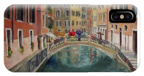 Art Card - Umbrellas In Venice IPhone Case