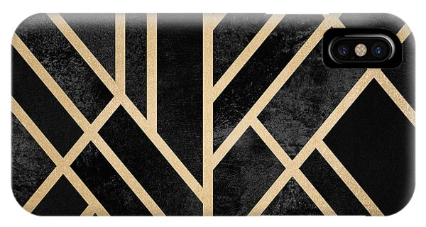 Digital iPhone Case - Art Deco Black by Elisabeth Fredriksson