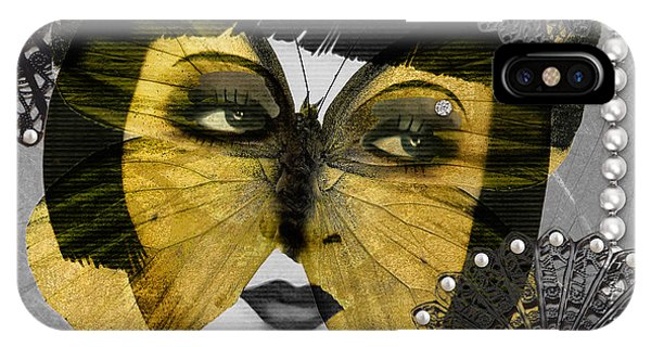 Art Deco Butterfly Woman IPhone Case