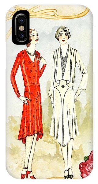 Art Deco Fashion Girls IPhone Case