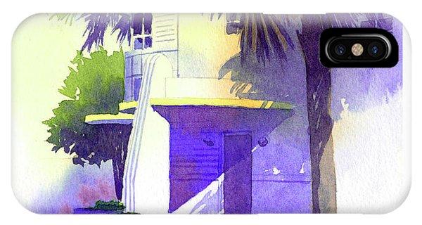 Art Deco Hotel Miami IPhone Case