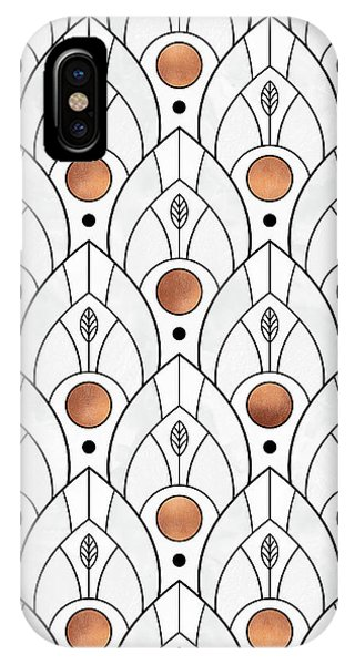 Art Deco Leaves 1 IPhone Case
