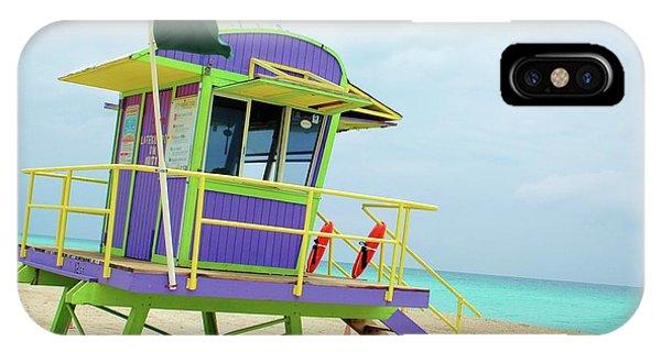 Art Deco Lifeguard Shack IPhone Case