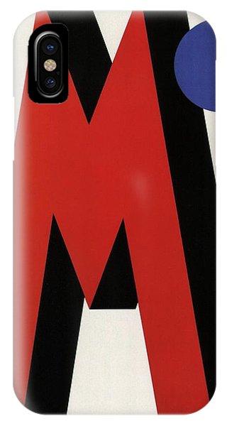 Violet iPhone Case - Art Deco Red M - Vintage Advertising Poster by Studio Grafiikka