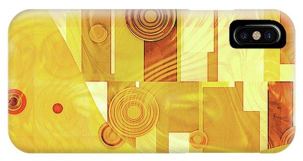 Art Deco Yellow IPhone Case