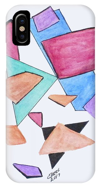 IPhone Case featuring the painting Art Doodle No. 1 by Clyde J Kell