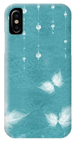 Aqua iPhone Case - Art En Blanc - S11bt01 by Variance Collections