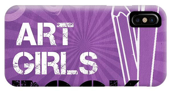 Classroom iPhone Case - Art Girls Rock by Linda Woods