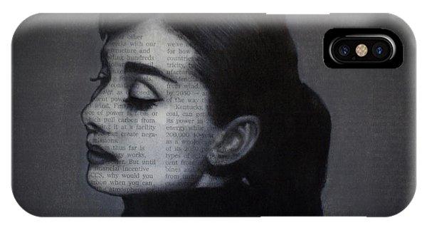 Art In The News 98-audrey Hepburn IPhone Case