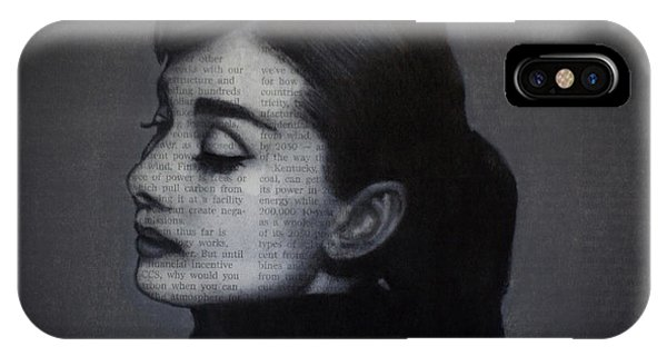 Art In The News 98-audrey Hepburn IPhone Case