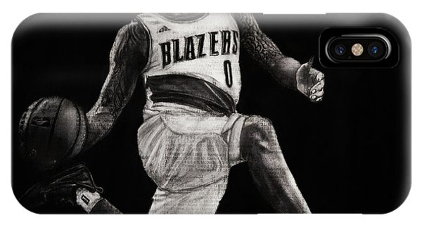 Art In The News- Lillard IPhone Case