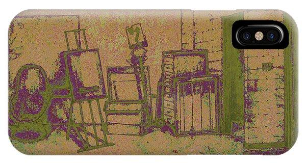Art Intro Mixed Media IPhone Case