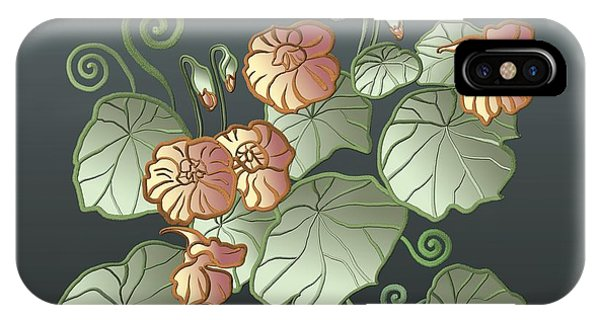 Art Nouveau Garden IPhone Case