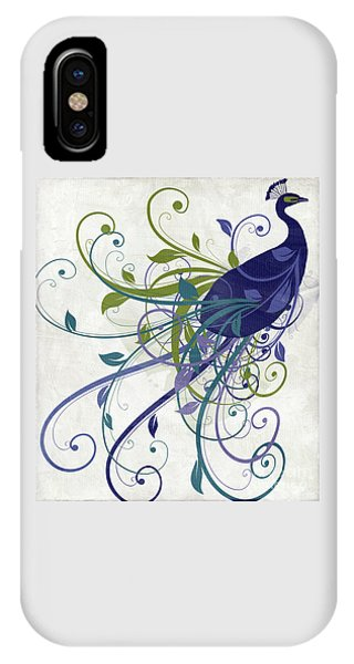 Peacock iPhone Case - Art Nouveau Peacock I by Mindy Sommers