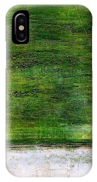 Art Print Green White IPhone Case