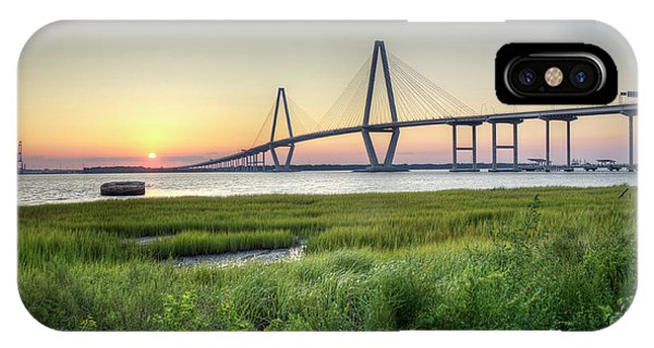 Arthur Ravenel Bridge Sunset IPhone Case