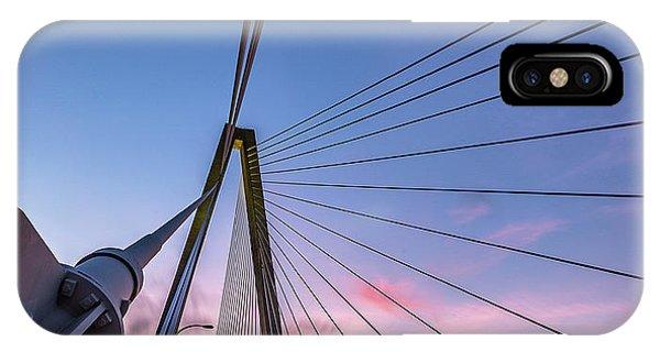 Arthur Ravenel Jr. Bridge Light Trails IPhone Case