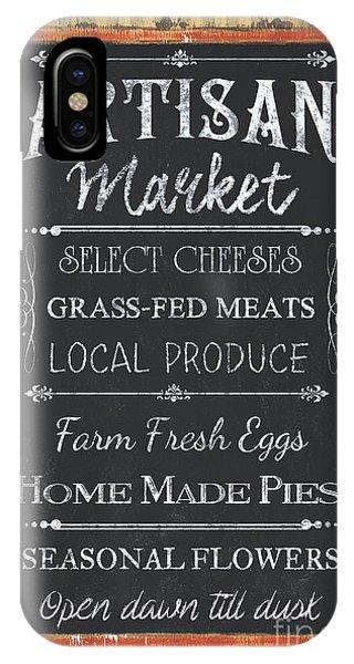 Market iPhone Case - Artisan Market Sign by Debbie DeWitt