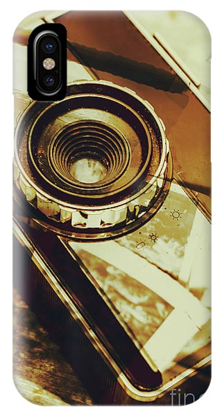 Old World iPhone Case - Artistic Double Exposure Of A Vintage Photo Tour by Jorgo Photography - Wall Art Gallery