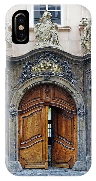 Artistic Ornate Door In Prague IPhone Case