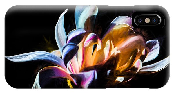 Artistic Paiterly Colored Flower IPhone Case