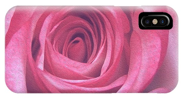 Artistic Red Rose IPhone Case