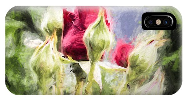 IPhone Case featuring the photograph Artistic Rose And Buds by Leif Sohlman