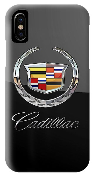 Cadillac - 3d Badge On Black IPhone Case