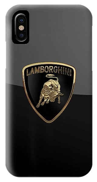 Lamborghini - 3d Badge On Black IPhone Case