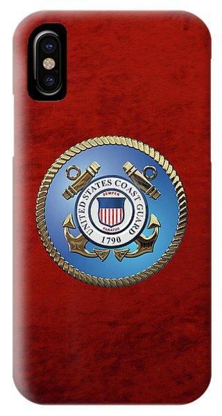 U. S. Coast Guard - U S C G Emblem IPhone Case