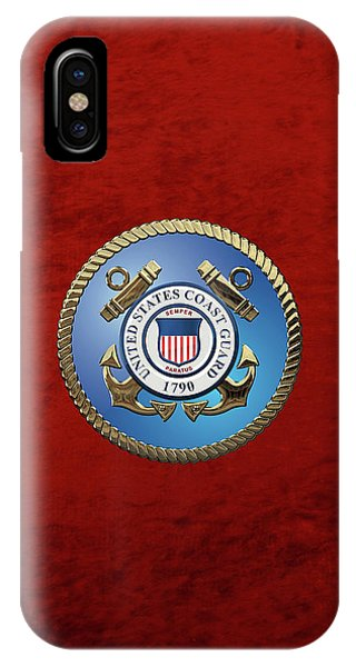 U. S. Coast Guard - U S C G Emblem IPhone Case