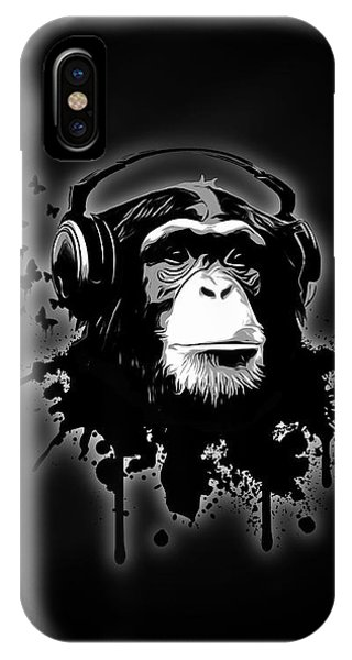 Monkey Business - Black IPhone Case