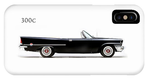 Car iPhone X Case - Chrysler 300c 1957 by Mark Rogan