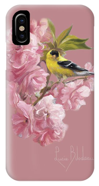 Finch iPhone Case - Spring Blossoms by Lucie Bilodeau
